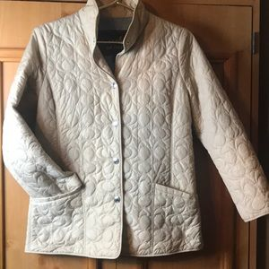 Coach tan quilted jacket sz S/P